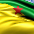Flag of French Guiana - Stock Photo
