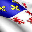 Flag of Picardy, France. - Stock Photo