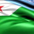 Flag of Djibouti — Stock Photo #7435583