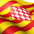 Flag of Girona Province, Spain. — Stock Photo #7463957