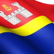 Flag of Kaliningrad Oblast, Russia. — Stock Photo