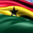 Flag of Ghana — Stock Photo #7531021