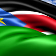 Flag of Southern Sudan - Stock Photo