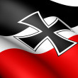 Flag of German Empire (National and merchant flag) - Stock Photo