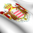Monaco coat of arms — Stockfoto