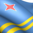 Flag of Aruba — Stock Photo