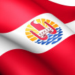 Flag of French Polynesia — Stock Photo