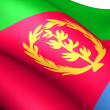 Flag of Eritrea - Stock Photo