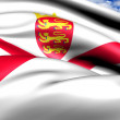Stock Photo: Bailiwick of Jersey flag