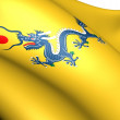 Flag of the Qing Dynasty — Stock Photo