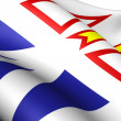 Flag of Newfoundland and Labrador, Canada. - Stock Photo