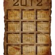 Calendar for 2012 — Stock Photo