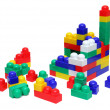House of blocks - meccano toy — Stock Photo