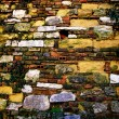 Close-up vintage brick wall — Stok fotoğraf