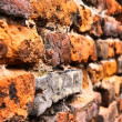 Close-up vintage brickwall - Stock Photo