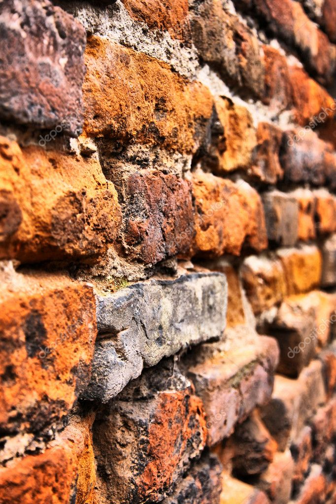 Close-up vintage brickwall background in Verona (HDR filter)  Foto de Stock   #6987216