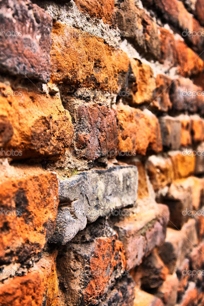 Close-up vintage brickwall background in Verona (HDR filter) — Lizenzfreies Foto #6987216