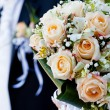 Wedding peach-coloured bouquet — Stock Photo