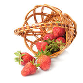 Strawberries in basket — Stock Photo