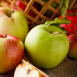 Apples on wooden table — Stock Photo #6910744
