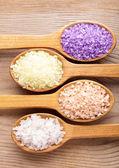 Various sea salt — Stock Photo