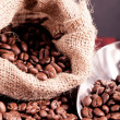 Coffee beans spilling — Foto Stock