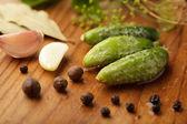 Preparación de pepino pequeño — Foto de Stock