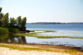 Dnipro river coast — Stock Photo