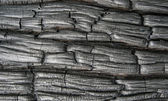 Charred wood, background — Stock Photo