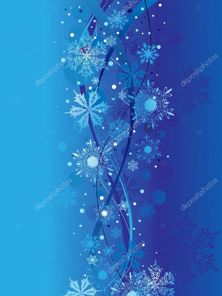 雪的圣诞节,矢量图
