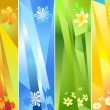 Four seasons, vector illustration — Stock Vector #7585047