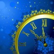 Royalty-Free Stock Vector Image: Christmas background with clock, vector illustration