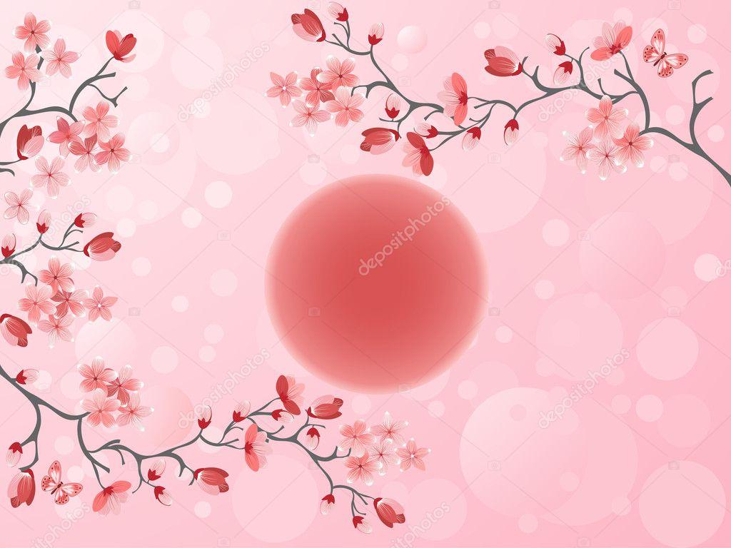 樱花-日本春季 — 图库矢量图像08