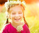 Küçük bir kızın portresi — Stok fotoğraf