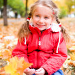 Royalty-Free Stock Photo: Autumn portrait of a  little girl