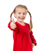 Cute little girl with a plaits — Stock Photo