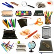 Group of education theme objects - Stockfoto
