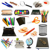 Group of education theme objects — Stock Photo