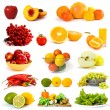 Stock Photo: Vegetables and fruits collection