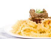 Pasta with a meat — Stock Photo