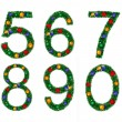 Set of numerals - Stock Photo