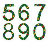 Set of numerals — Stock Photo