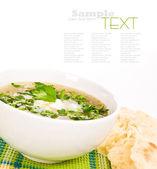 Sebzeli çorba sebze çorbası — Stok fotoğraf
