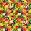 Fruits vegetable big collage — Stock Photo #7715248