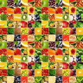 Collage de gros légumes fruits — Photo