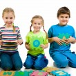 Children are playing letters - Stockfoto