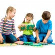 Children are playing letters - Lizenzfreies Foto