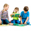 Children are playing letters — Stock Photo