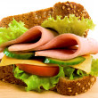 Ham and cheese sandwich — Stock Photo #7880384
