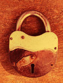 Old rusty padlock — Stockfoto